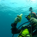 eat a banana underwater